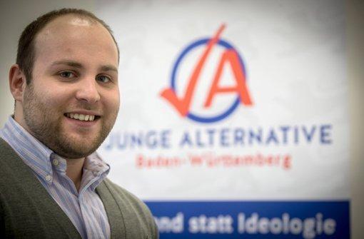 Der neue JA-Vorsitzende Markus Frohnmaier kandidiert derzeit im Wahlkreis Villingen-Schwenningen für den Landtag. Foto: Lichtgut/Achim Zweygarth