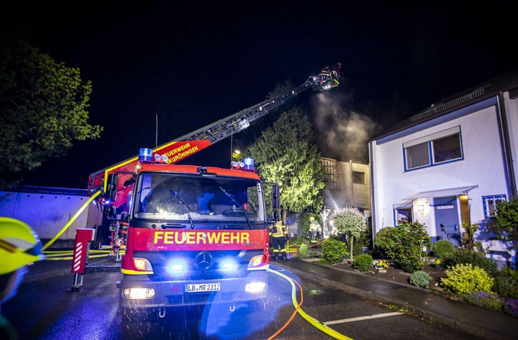 Weitere Bilder vom  Brand im Remseck. Foto: 7aktuell.de/Simon Adomat
