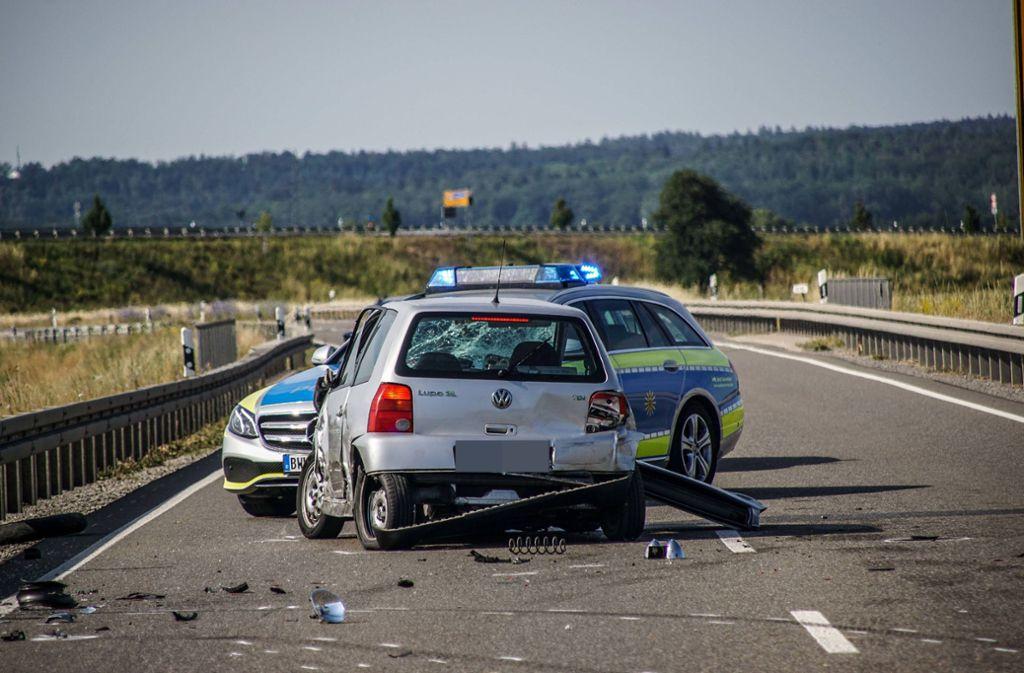 Tödlicher Unfall eines Motorradfahrers bei Maichingen. Foto: SDMG