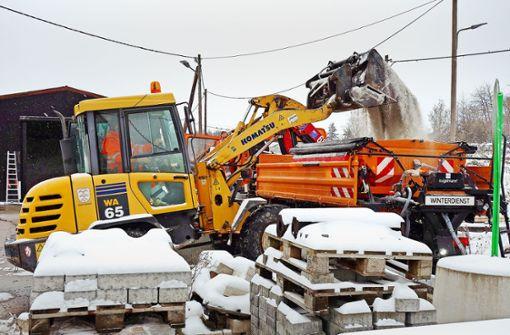 Bauhof hat große Mühe mit dem Schnee