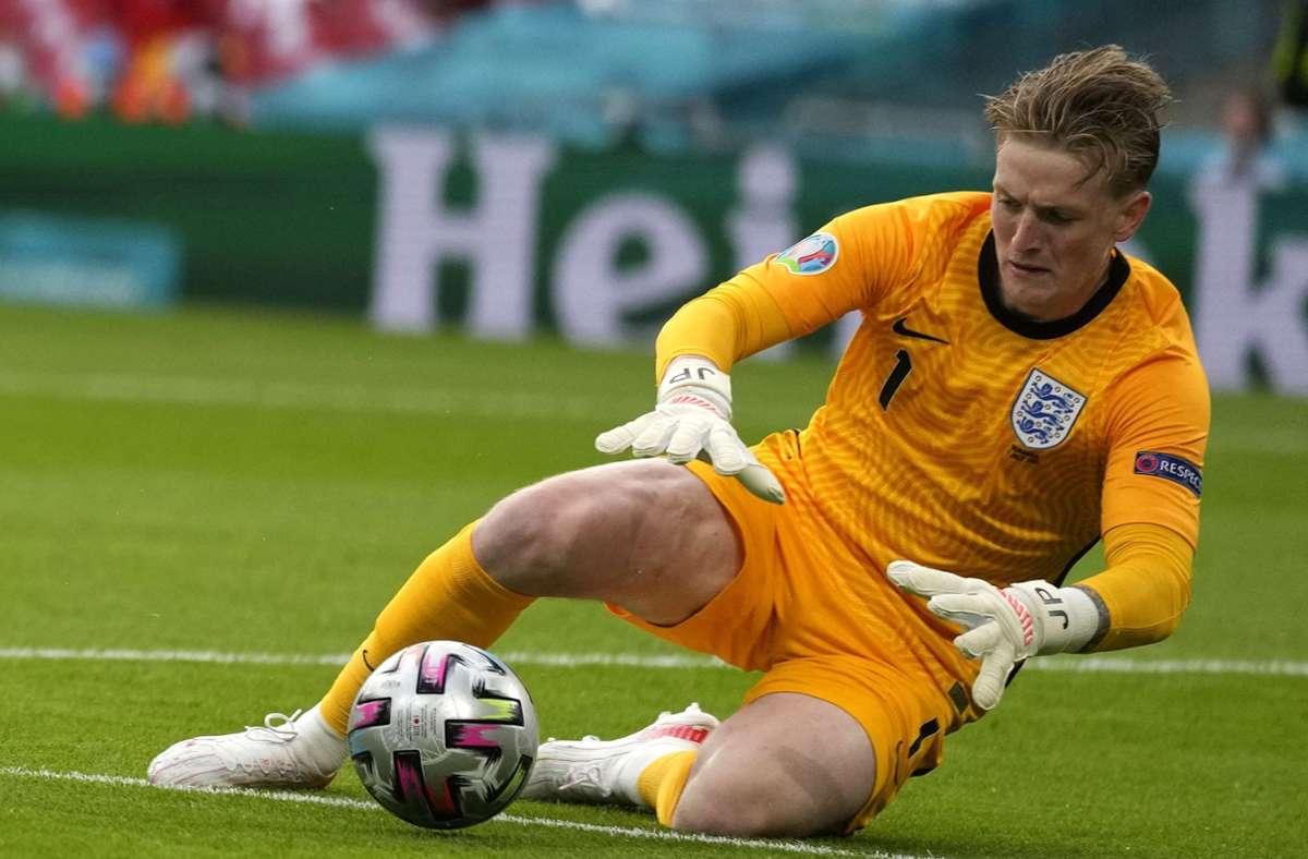 Jordan Pickford ist neuer Rekordhalter in England. Foto: AFP/FRANK AUGSTEIN