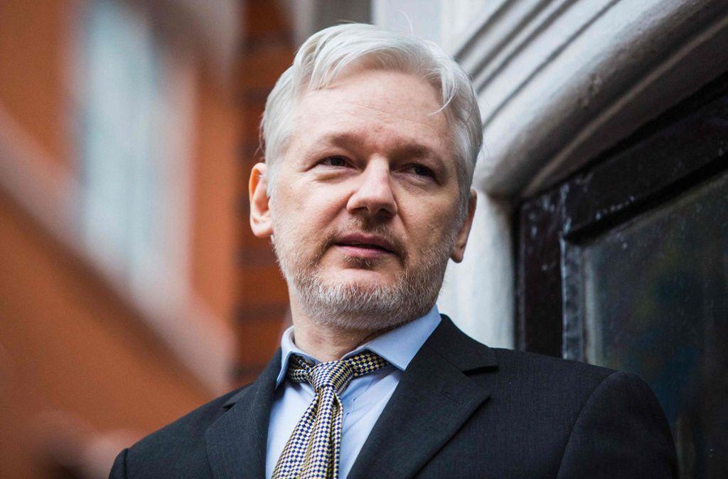 Julian Assange verbrachte sieben Jahre in der ecuadorianischen Botschaft in London Foto: AFP/JACK TAYLOR