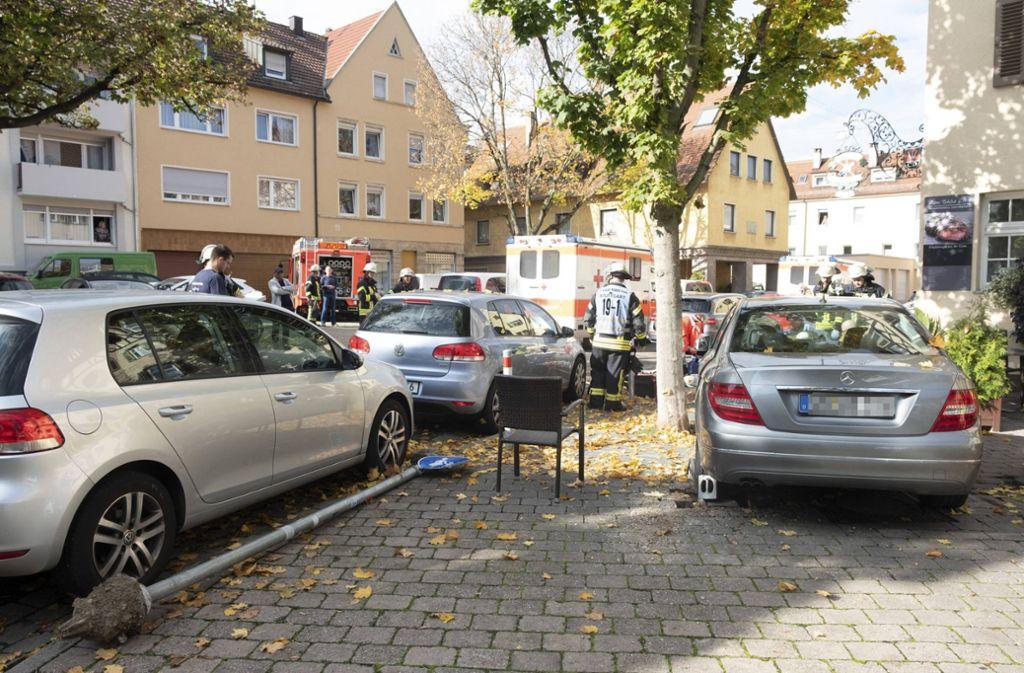 Der Unfall ereignete sich vor einer Gaststätte in Stuttgart-Münster. Foto: 7aktuell.de/Frank Herlinger