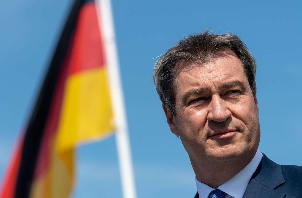 Söder beklagte rückblickend zu viele Pläne in Deutschland statt eines großen Plans. Foto: dpa/Peter Kneffel