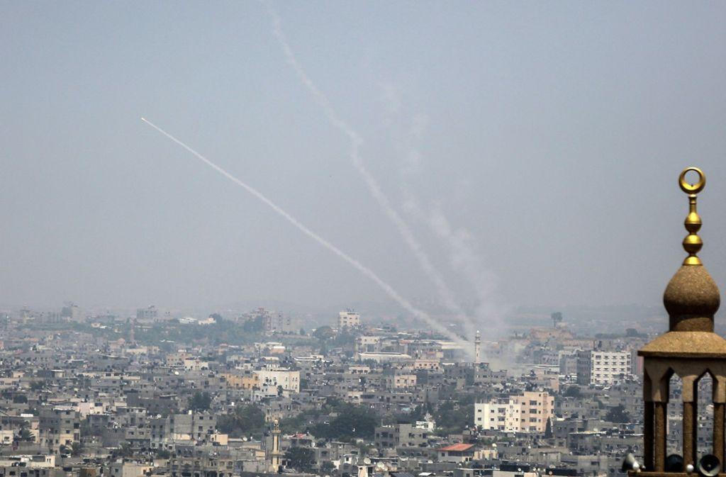 Raketen werden auf israelisches Gebiet gefeuert. Foto: AFP