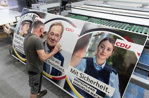 Wahlplakate der CDU nicht ganz echt