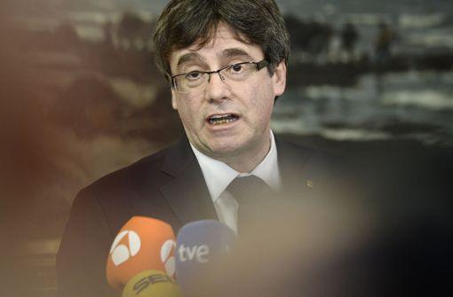 Keine Wahl in Abwesenheit von Puigdemont