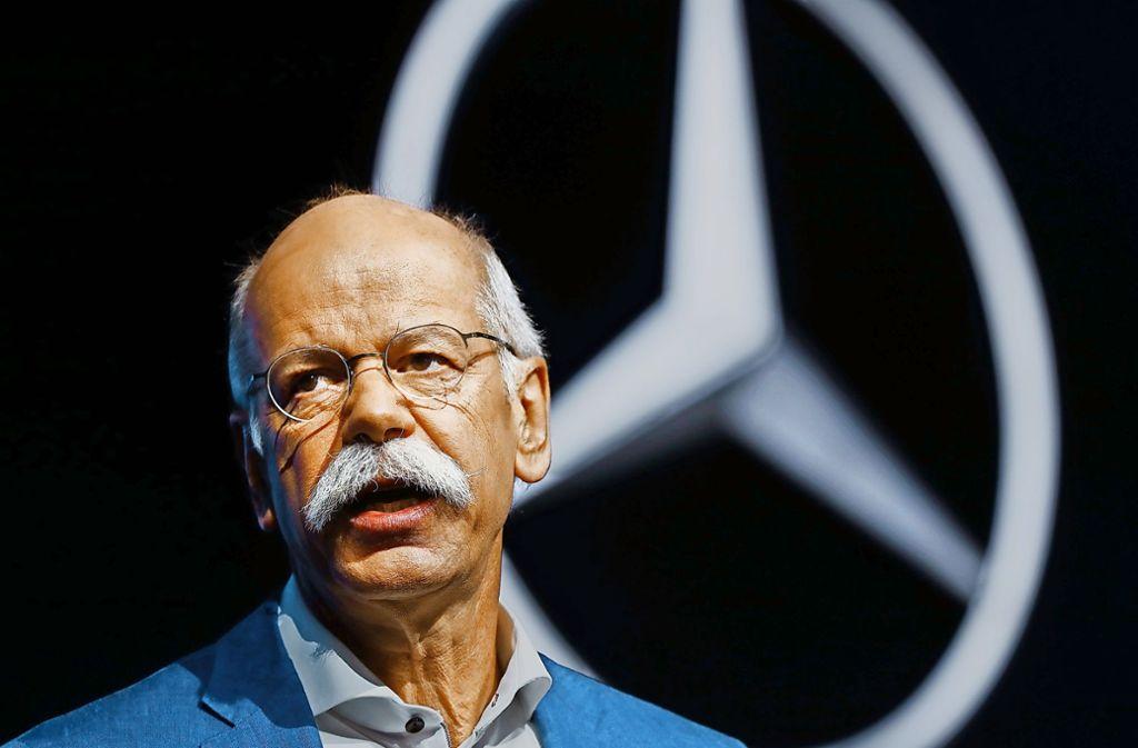 Der Schnauzbart ist ein Markenzeichen von Dieter Zetsche. Foto: AP