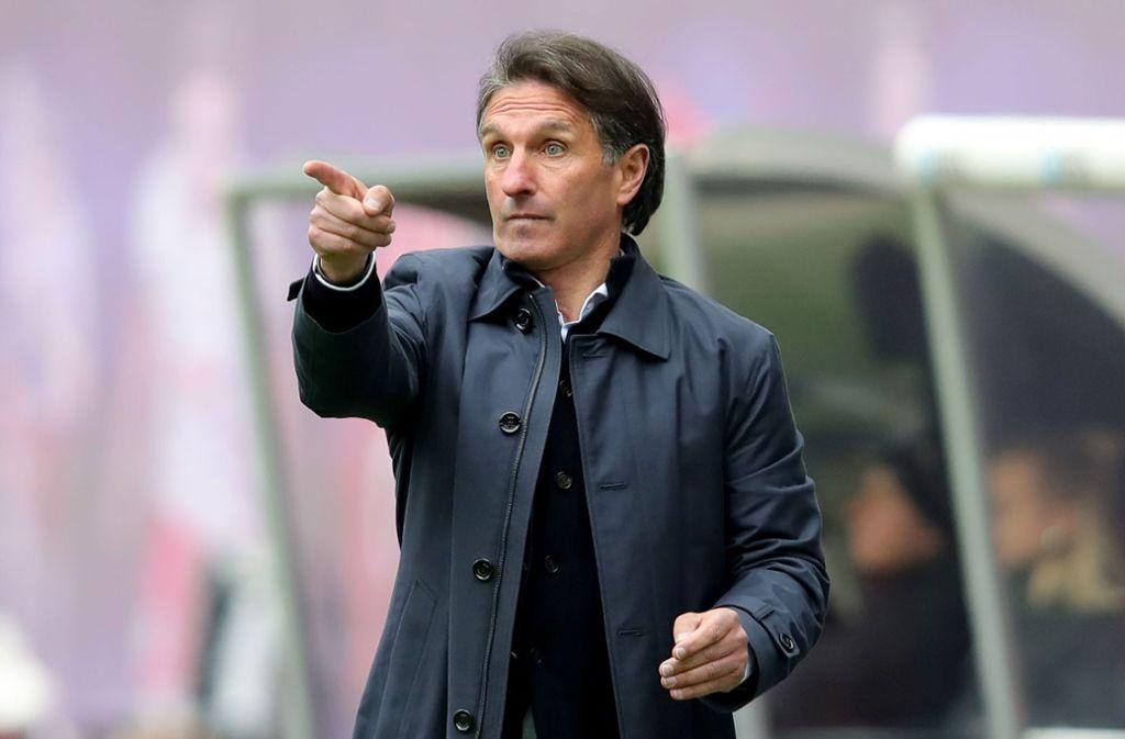 Bruno Labbadia hat eine Vergangenheit beim VfB Stuttgart und beim möglichen Relegationsgegner Hamburger SV. Foto: Bongarts/Getty Images