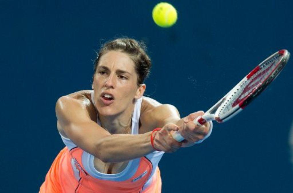 Andrea Petkovic ist im Achtelfinale des WTA-Turniers von Brisbane Foto: dpa
