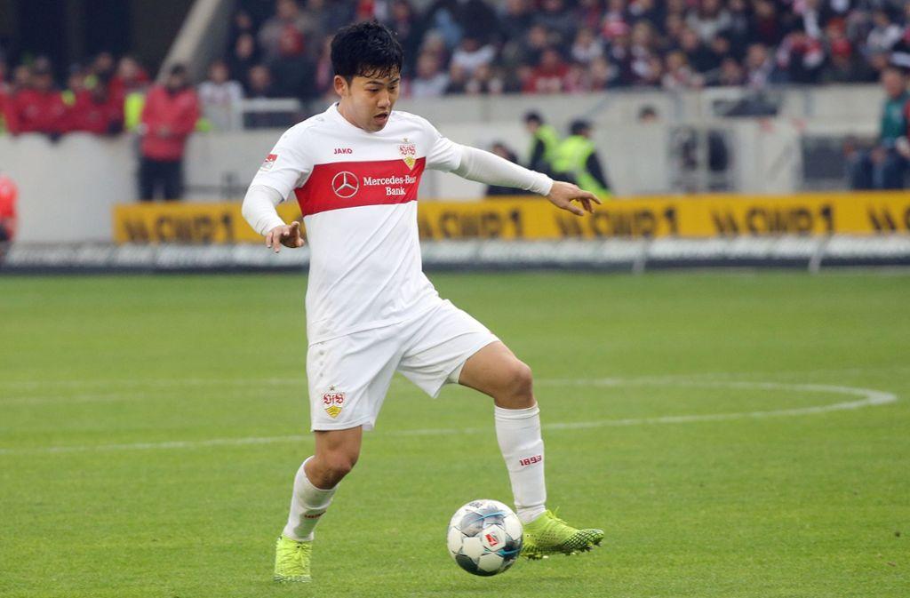 Spielte für den VfB im Derby gegen den KSC groß auf: Wataru Endo. Foto: Baumann