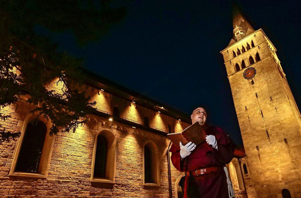 Sindelfinger Mythen und Legenden erzählt der Mönch Foto: factum/