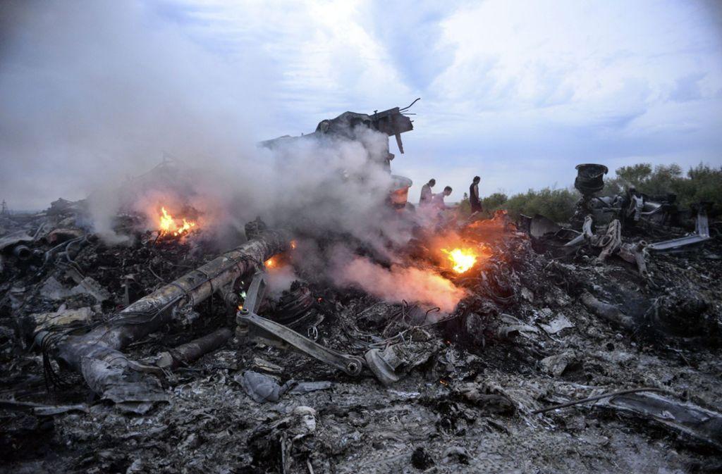 Alle 298 Insassen der Passagiermaschine kamen bei dem Abschuss ums Leben. Foto: dpa