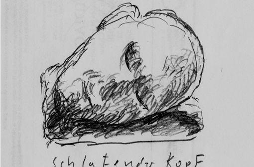 Bildhauer werkeln an der Nase des Korber Kopfs