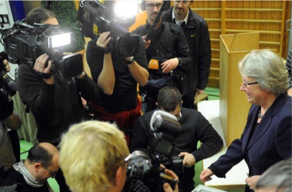 Annette Schavan ist in Ulm wieder als Bundestagskandidatin aufgestellt worden. Foto: dpa