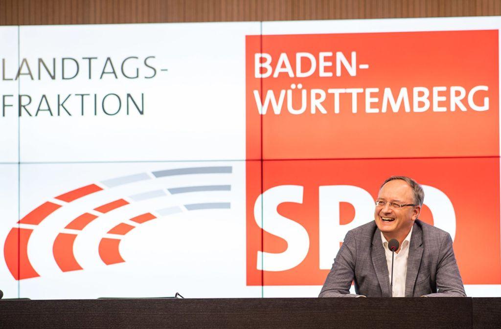 Von vielen gedrängt, jetzt zu springen: Andreas Stoch bei der Ankündigung seiner Kandidatur. Foto: dpa