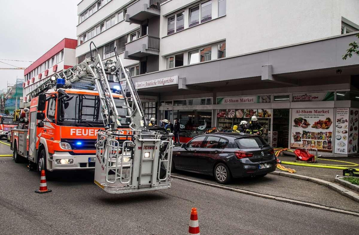 Feuerwehreinsatz in einem Supermarkt in Sindelfingen. Foto: SDMG/SDMG / Dettenmeyer