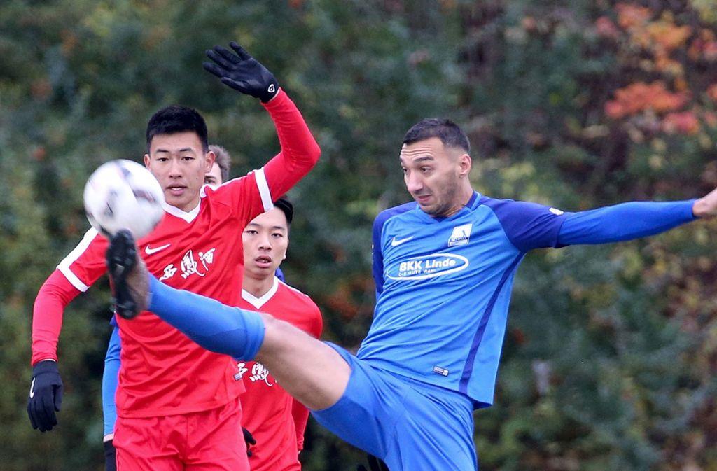 Beim Spiel zwischen Chinas U20 und TSV Schott Mainz kam es zu Protesten, die letztendlich zur Absage der weiteren Partien führten. Foto: dpa