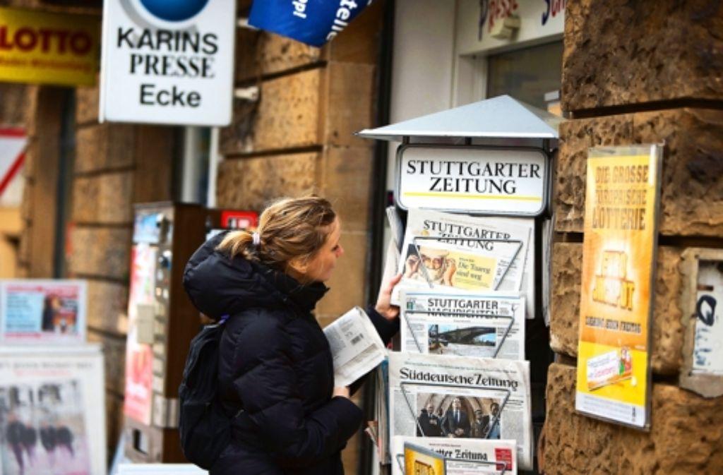 Vielfalt am Zeitungskiosk: Auch Google soll dazu beitragen. Foto: Michael Steinert