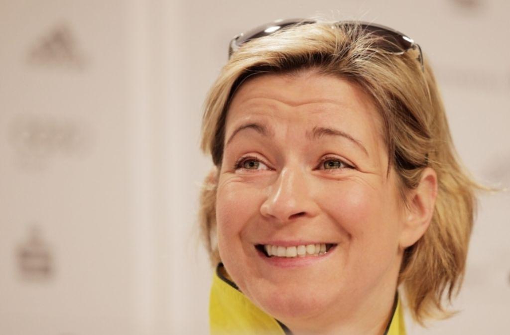 Claudia Pechstein hat nach dem Urteil gut lachen. Foto: