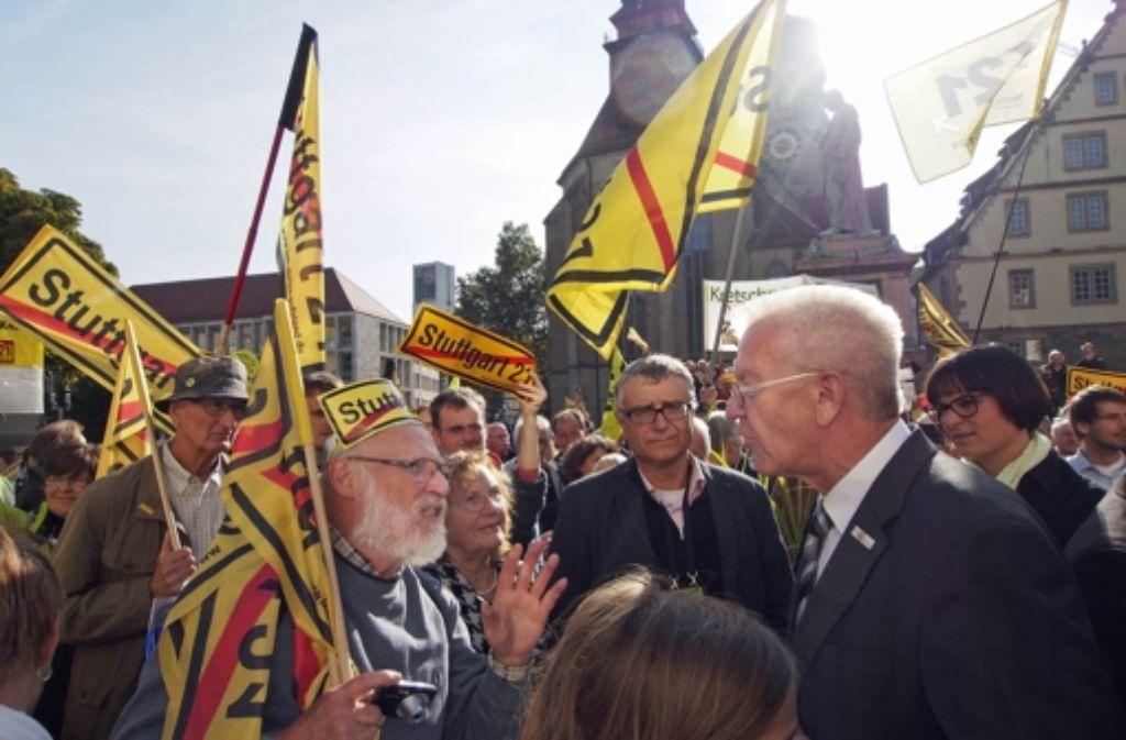 Aufmüpfige Bürger müsse man in Kauf nehmen, sagt Ministerpräsident Winfried Kretschmann. Foto: FACTUM-WEISE
