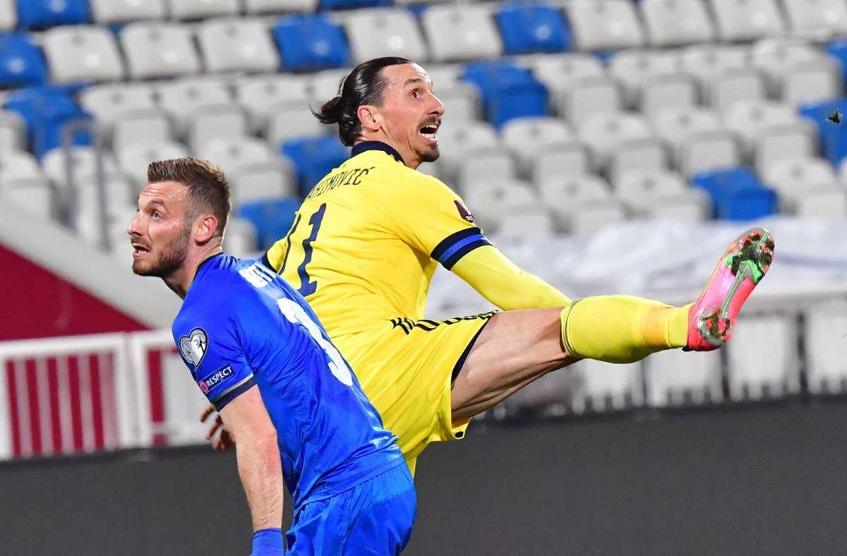 Zlatan Ibrahimovic fällt für die EM aus. Foto: imago images/TT/Jonas Ekströmer