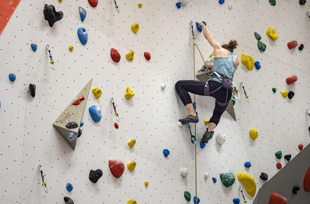Schon Klettern ohne Zeitdruck bringt viele an ihre Grenzen (Symbolbild) Foto: factum/Weise/Andreas Weise