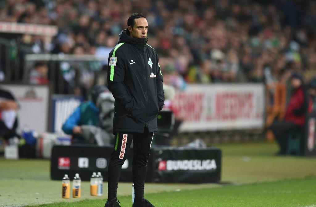 Werder-Trainer Alexander Nouri steht vor dem Aus. Foto: dpa