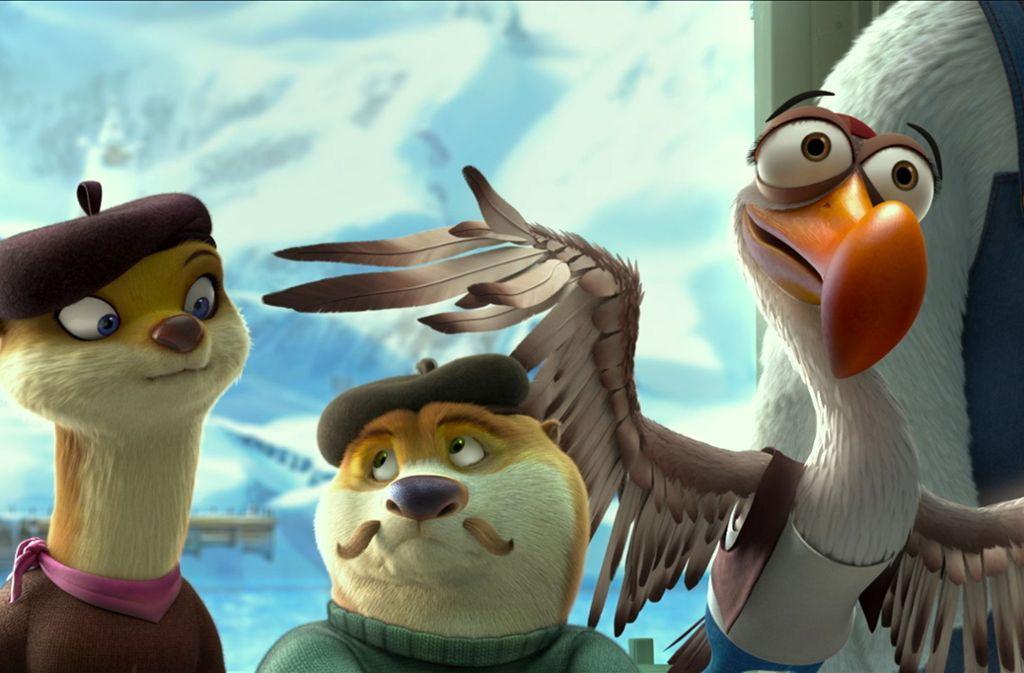 """Auch auf der großen Leinwand würden sie eine gute Figur abgeben: Szene aus """"Arctic Dogs"""",  eine Netflix-Produktion, die an diesem Freitag anläuft. Foto: dpa"""