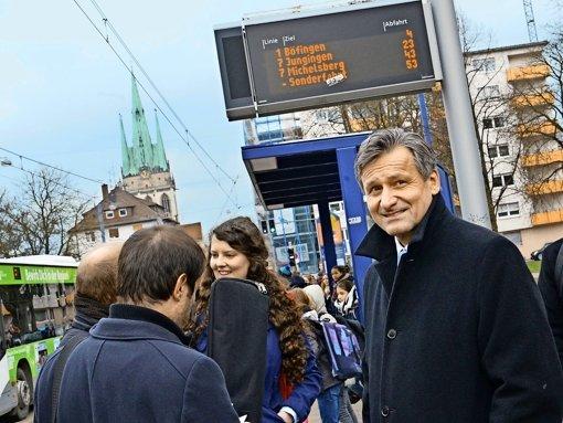Hans-Ulrich Rülke, unentwegt  auf Werbetour für die FDP; ein respektables Ergebnis im Land soll zum Ankerpunkt für die Liberalen bei der Bundestagswahl 2017 werden. Foto: dpa