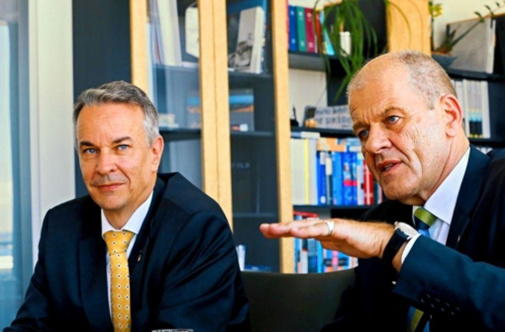 Roland Bleiroth (links) und Ulrich Kromer Foto: Achim Zweygarth