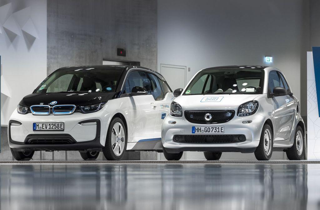 Share-Now ist ein Gemeinschaftsunternehmen von Daimler und BMW. Foto: