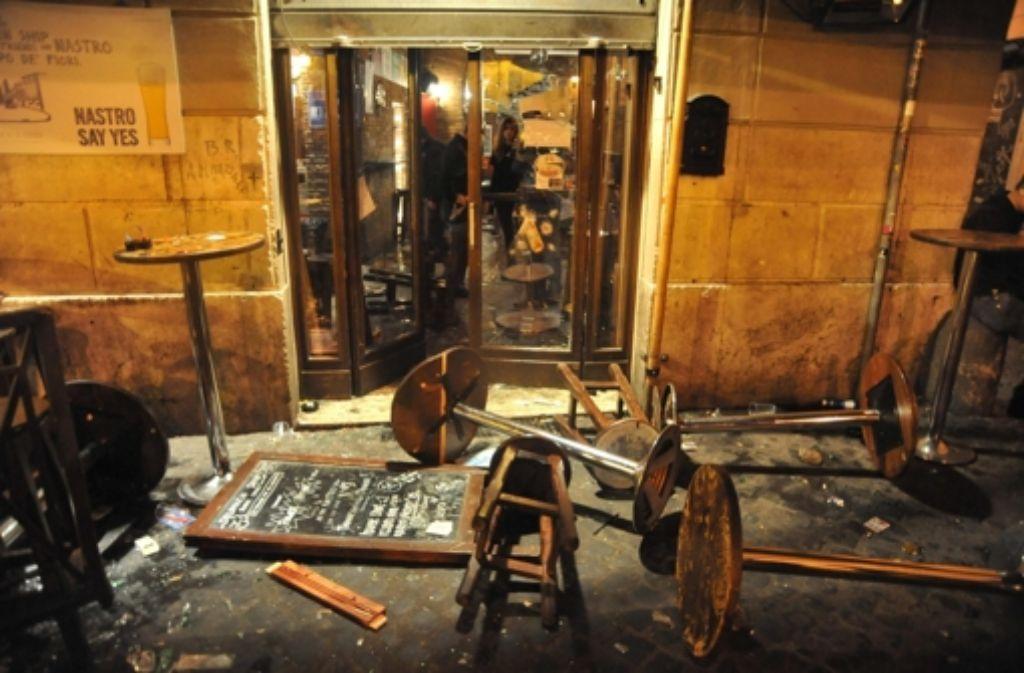 In dieser Bar haben Lazio-Fans Ende November Tottenham-Anhänger angegriffen. Foto: dpa