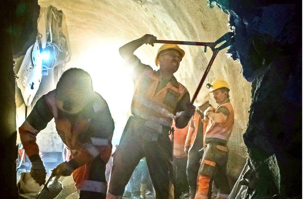 Keine leichte Aufgabe: der Tunnelbau für Stuttgart21 Foto: Lichtgut/Achim Zweygarth