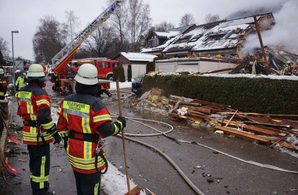 Bei der Explosion wurde das Wohnhaus komplett zerstört. Foto: SDMG