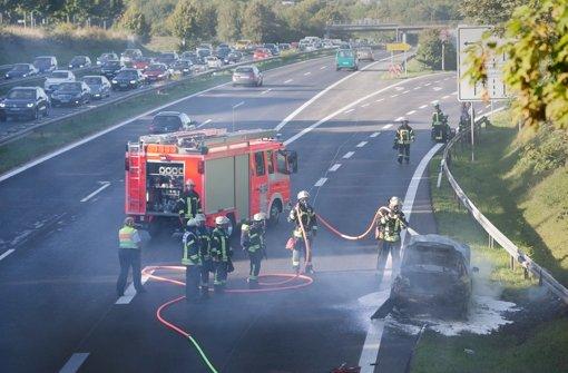 B27-Abfahrt durch Feuer beschädigt