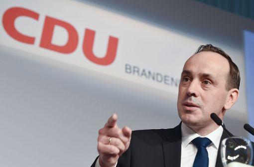 Brandenburgs CDU-Chef  zieht sich von Ämtern zurück