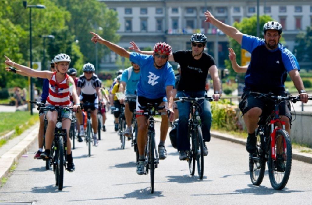 Eine Radfahrt, die ist lustig, eine Radfahrt, die ist schön... Foto: dpa