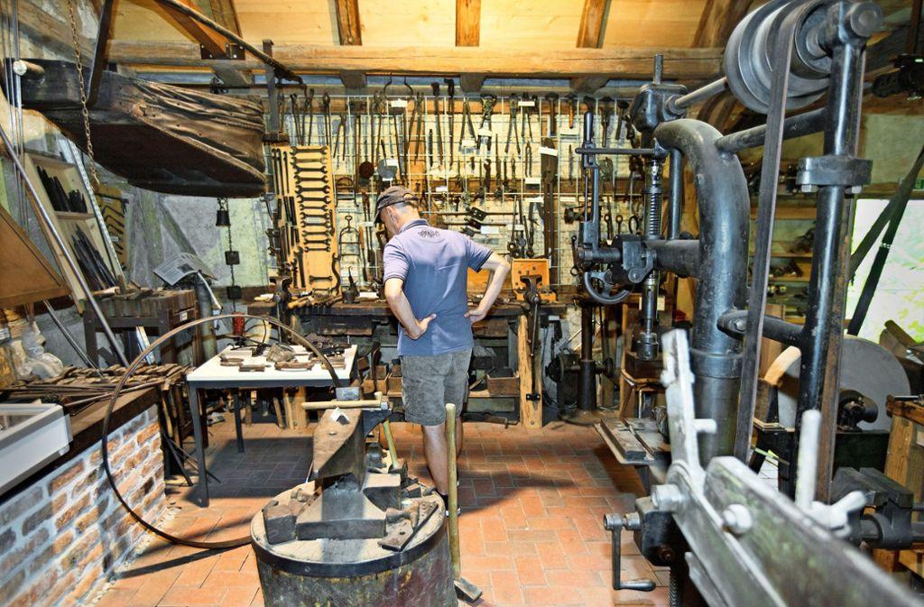 Das Stadtmuseum Wendlingen zeigt, wie der Schmied gearbeitet hat Foto: Horst Rudel
