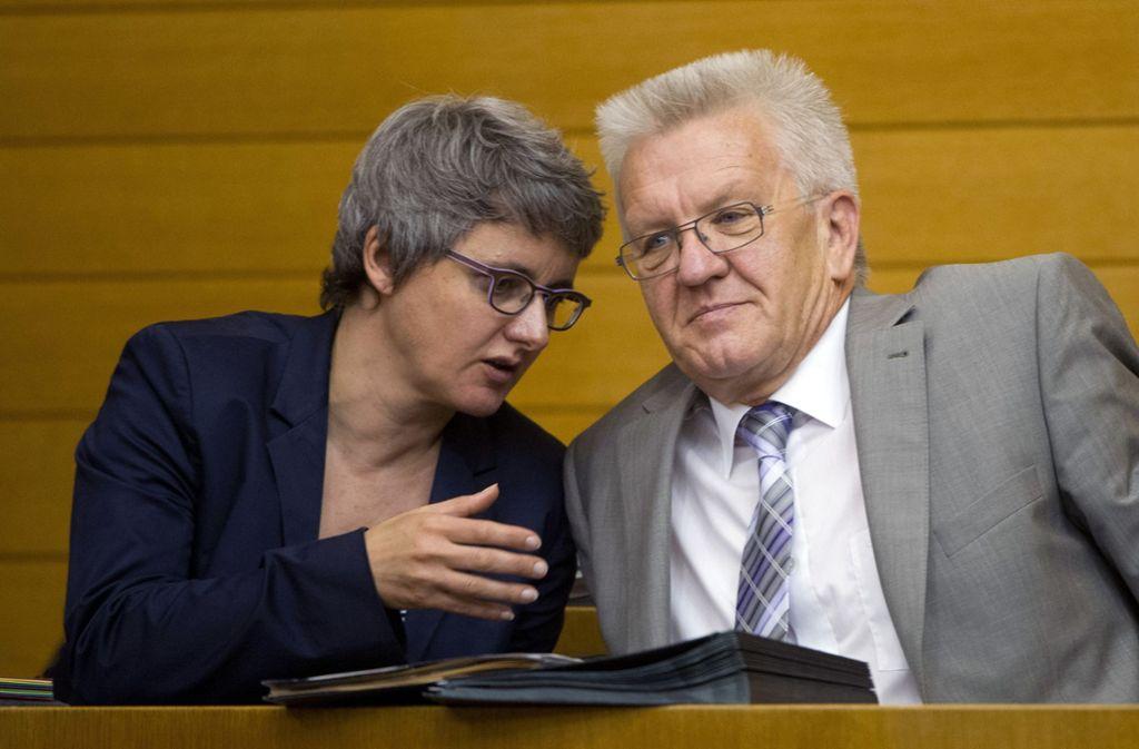 Ratschläge für Winfried Kretschmann: Silke Krebs als Ministerin auf der RegierungsbankEinst Grünen-Landeschefin und Ministerin: Silke Krebs, 52 Foto: dpa