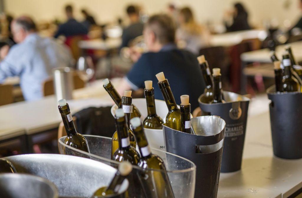 Eigentlich ist es bei Weinproben nicht Sinn und Zweck der Sache, sich zu betrinken. (Symbolbild) Foto: Lichtgut/Christoph Schmidt