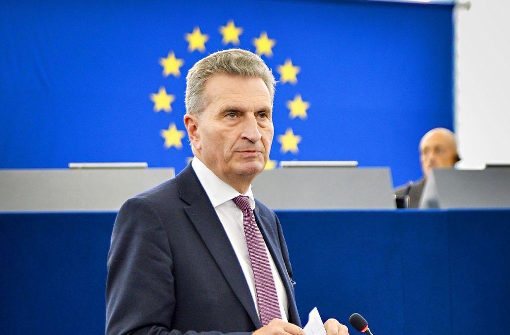 Günther Oettinger ist Haushalts-Kommissar bei der EU. In Brüssel wird er sehr geschätzt. Foto: EU/Michel  Christen