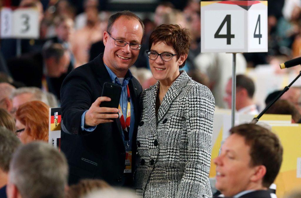 Annnegret Kramp-Karrenbauer ist die neue Vorsitzende der CDU. Foto: AFP