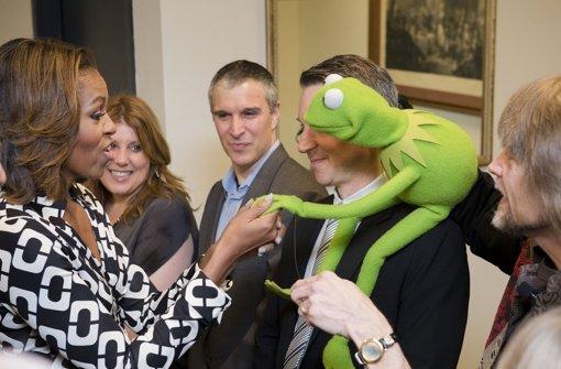Froschgrüner Besuch im Weißen Haus