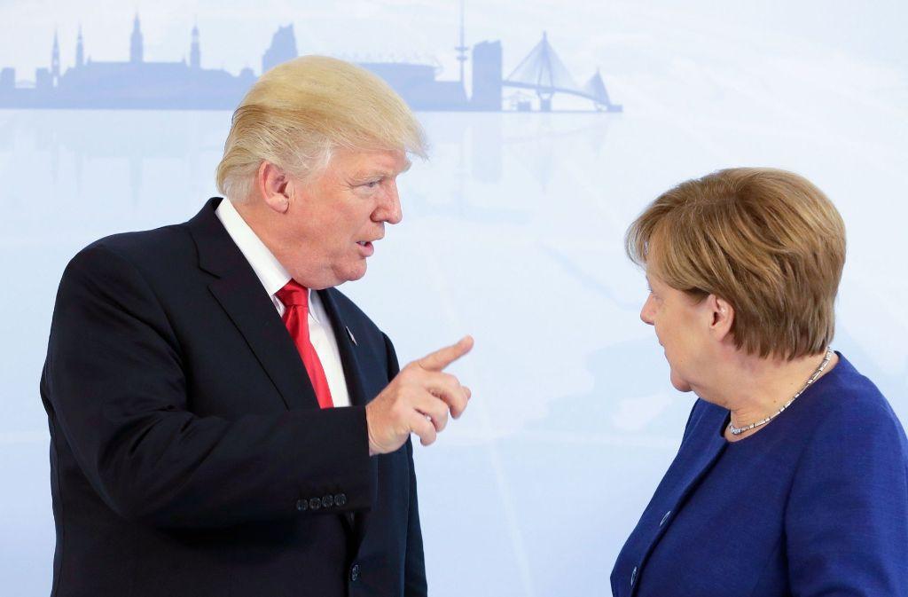 US-Präsident Donald Trump trifft Bundeskanzlerin Angela Merkel. Foto: POOL