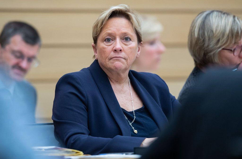 Kultusministerin Susanne Eisenmann äußert sich zum Nationalen Bildungsrat. Foto: dpa/Tom Weller