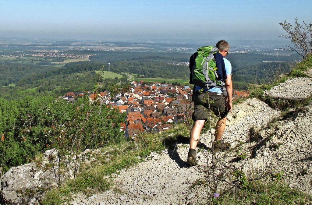 Der schweißtreibende Anstieg zum Jusi wird mit einer herrlichen Aussicht belohnt. Foto: Philipp Sauer