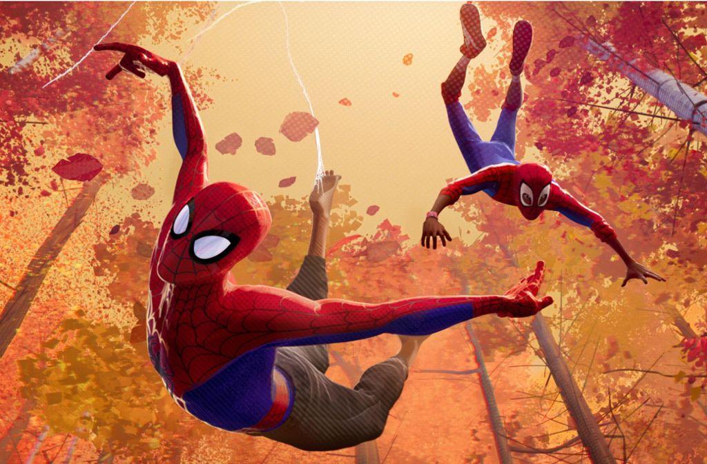 Ein Spider-Man reicht nicht mehr, es müssen mehrere sein. Sie fallen hier wie Herbstlaub. Foto: Sony