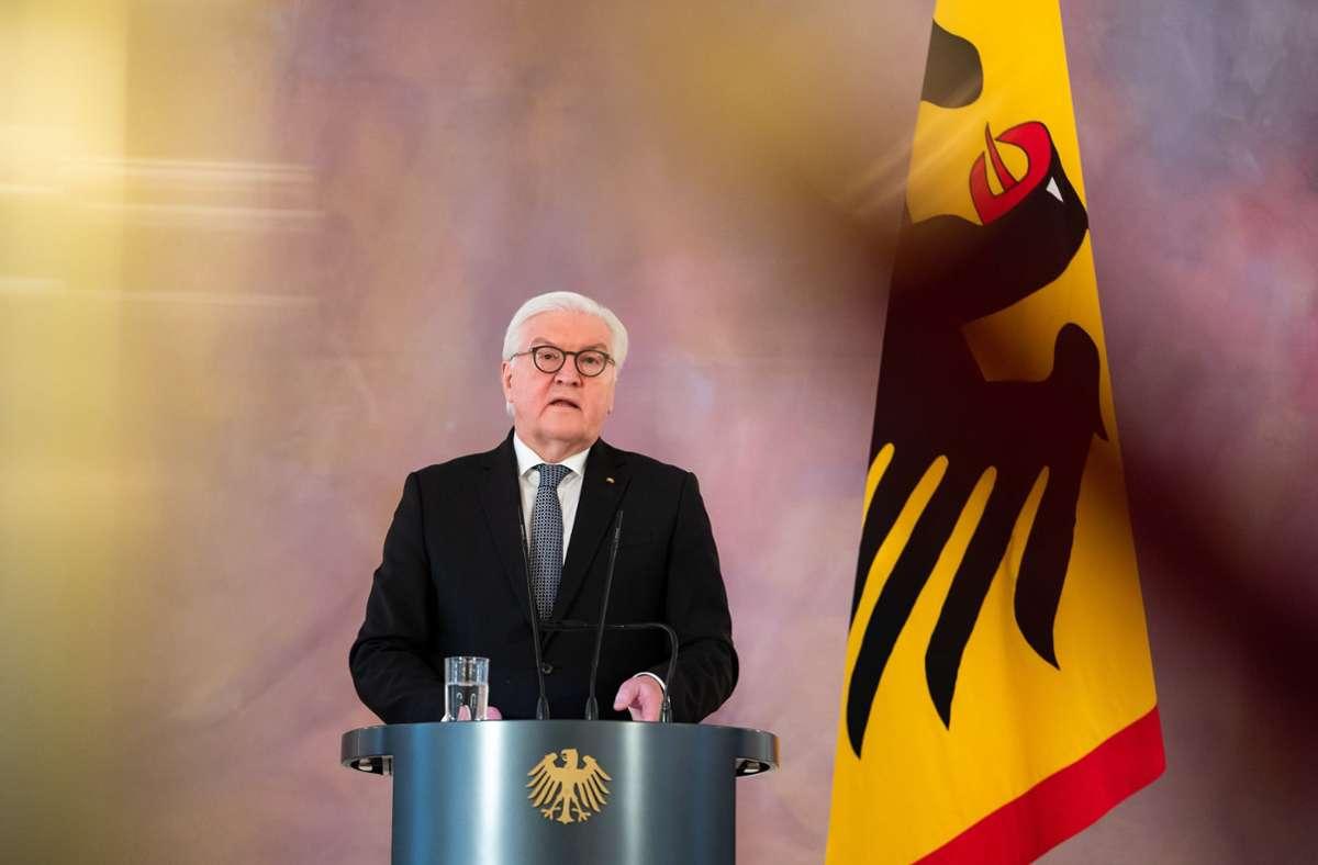 Bundespräsident Frank-Walter Steinmeier wendete sich an die Arbeitgeber. Foto: dpa/Bernd von Jutrczenka