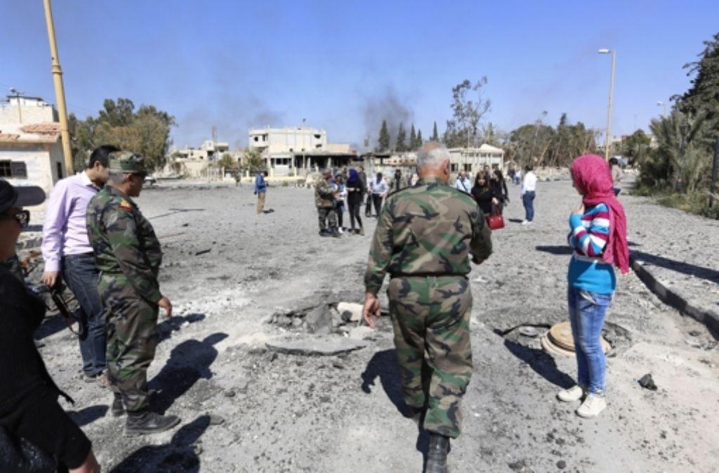 Die syrische Armee hat Palmyra aus der Hand der IS befreit. (Archivfoto) Foto: AP